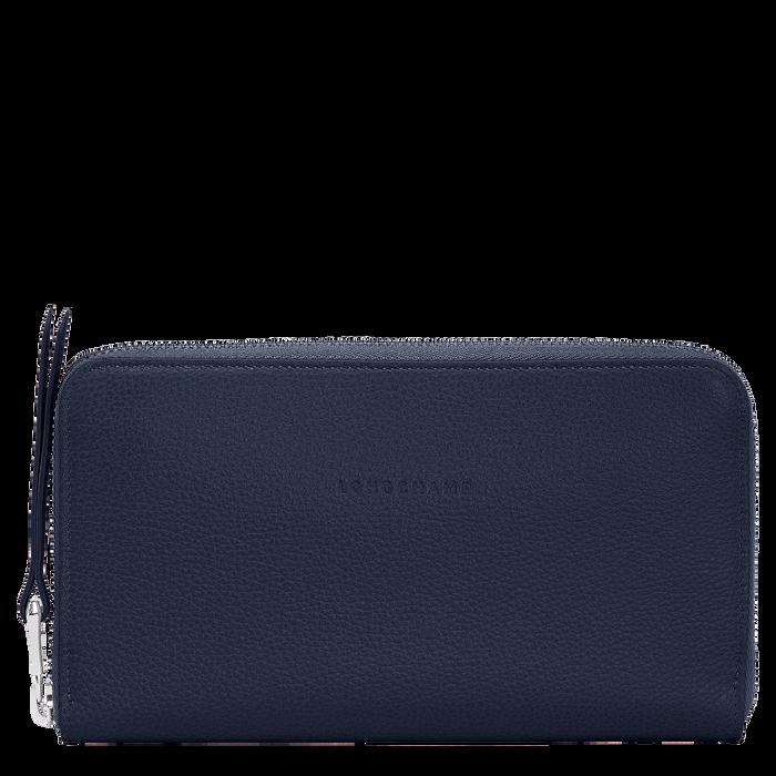 Long zip around wallet, Navy - View 1 of  2 - zoom in
