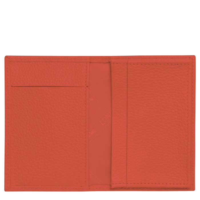 Le Foulonné Card holder, Paprika
