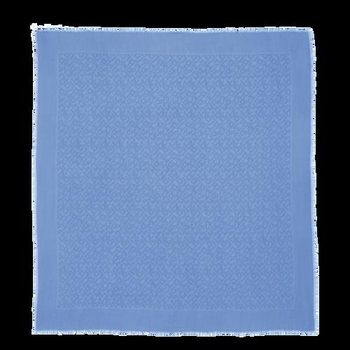 View 1 of Schal, Blau, hi-res
