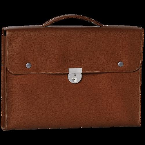 View 1 of Briefcase S, Cognac, hi-res