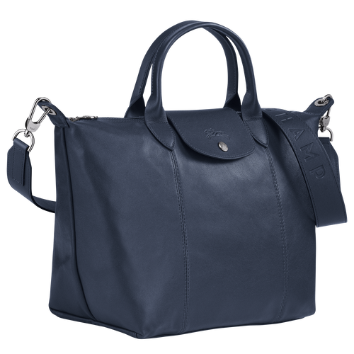 Top handle bag M, Navy - View 2 of  4 -