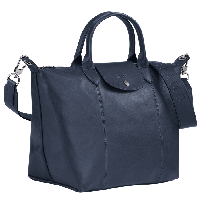 Top handle bag M, Navy - View 2 of  4 - zoom in