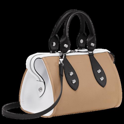 Top handle bag, Natural/Black/White, hi-res - View 2 of 3