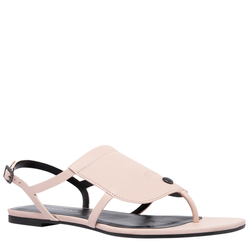 Sandales plates, Rose Pâle - Vue 2 de 6 -