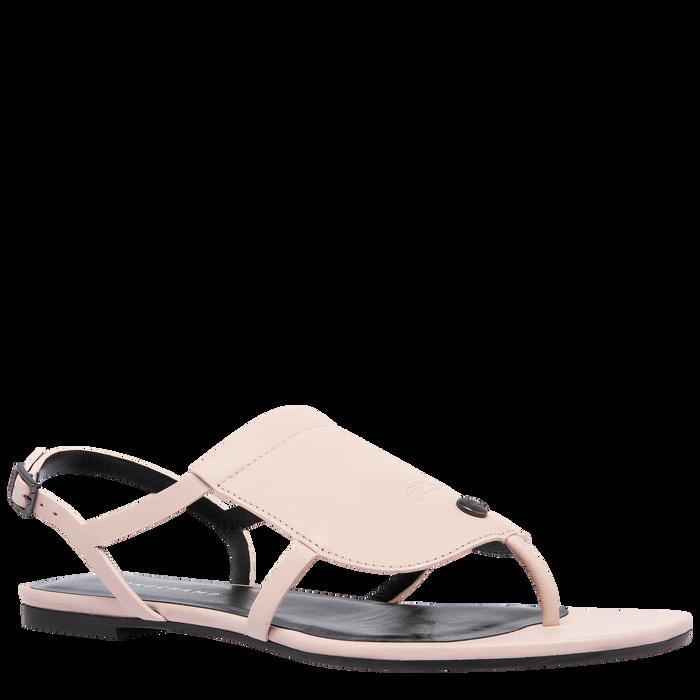 Sandales plates, Rose Pâle - Vue 2 de 6 - agrandir le zoom