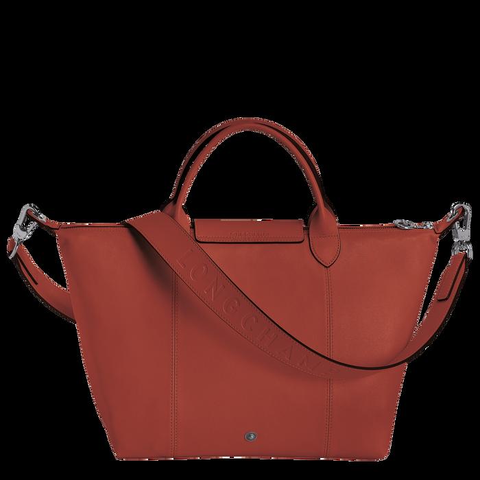 Le Pliage Cuir Handtasche M, Ockerbraun