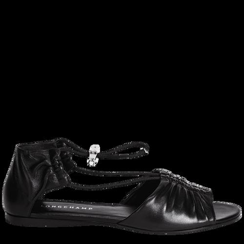 View 1 of Flat sandals, Black, hi-res