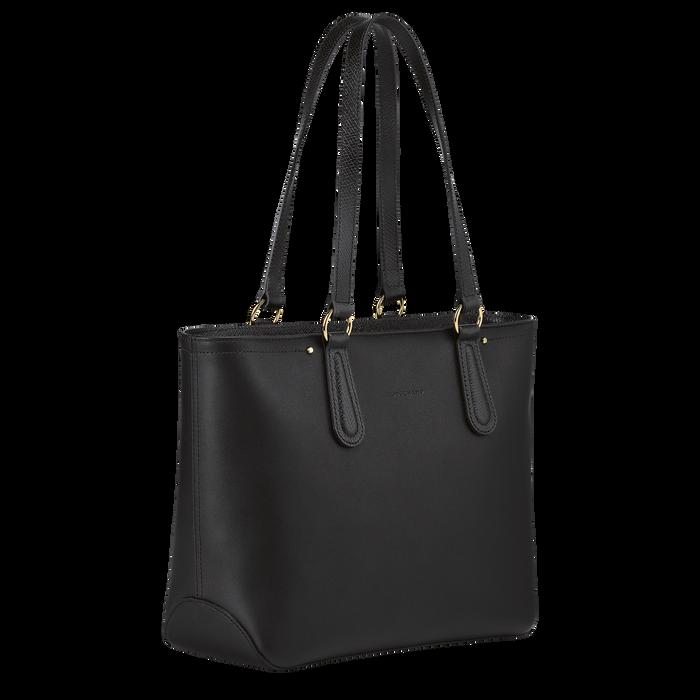 Zipped shopping bag, Black/Ebony - View 2 of  3 - zoom in