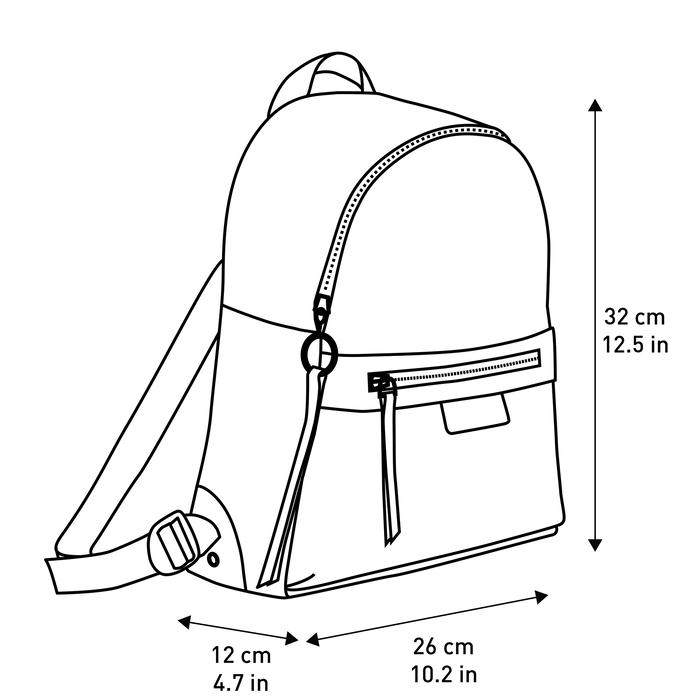 Le Pliage LGP Sac à dos S, Sauge/Coquelicot