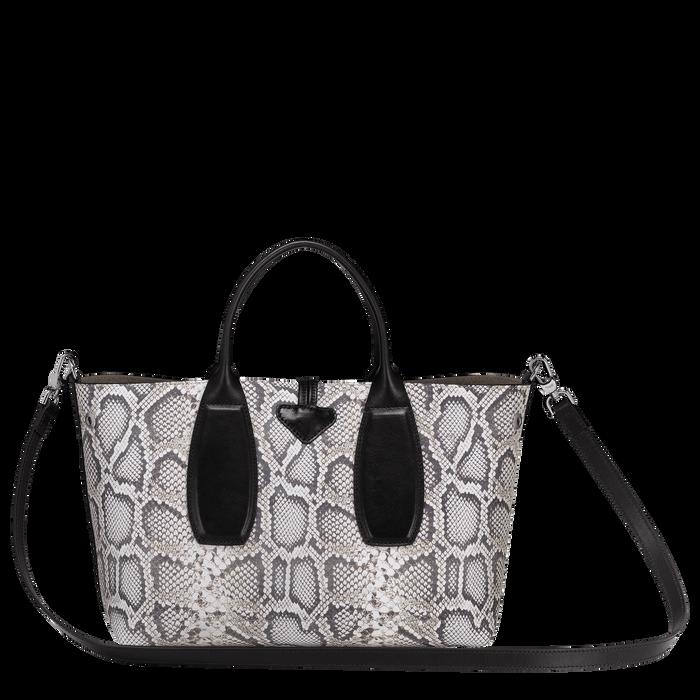 Top handle bag M, Black/White, hi-res - View 3 of 3