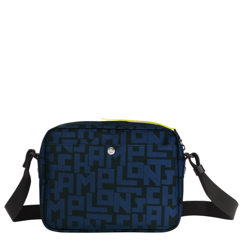 Crossbody bag M, Black/Navy, hi-res - View 3 of 4