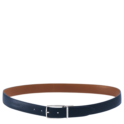 Men's belt, Navy/Cognac - View 1 of  1 -