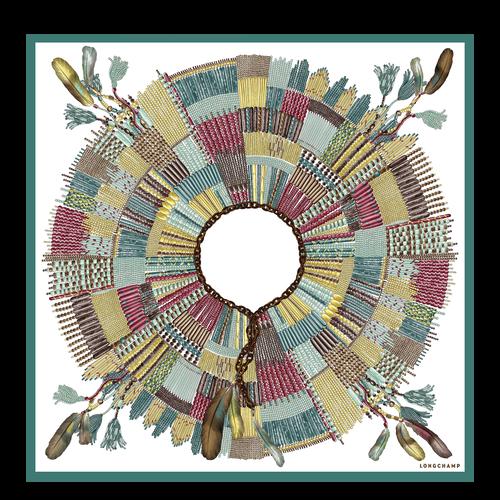 Zijden sjaal, Salie, hi-res - View 1 of 1