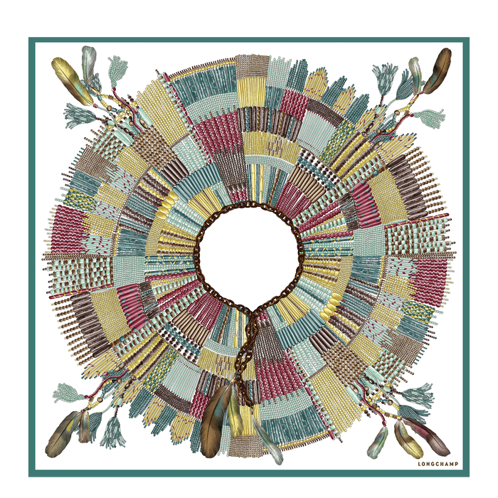 Silk scarf, Sage, hi-res - View 1 of 1