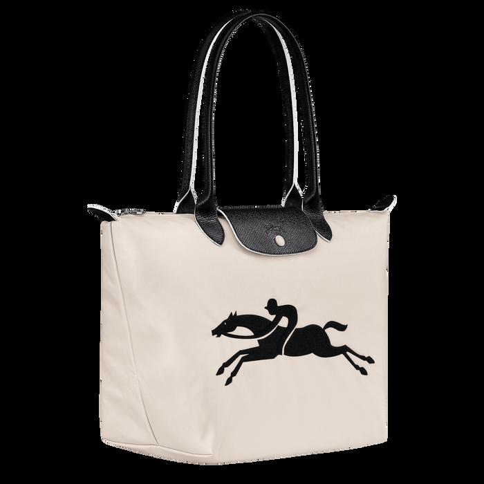 Online Exclusive Le Pliage Club Shoulder bag L, Chalk/Black