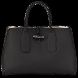 Top handle bag L, 001 Black, hi-res