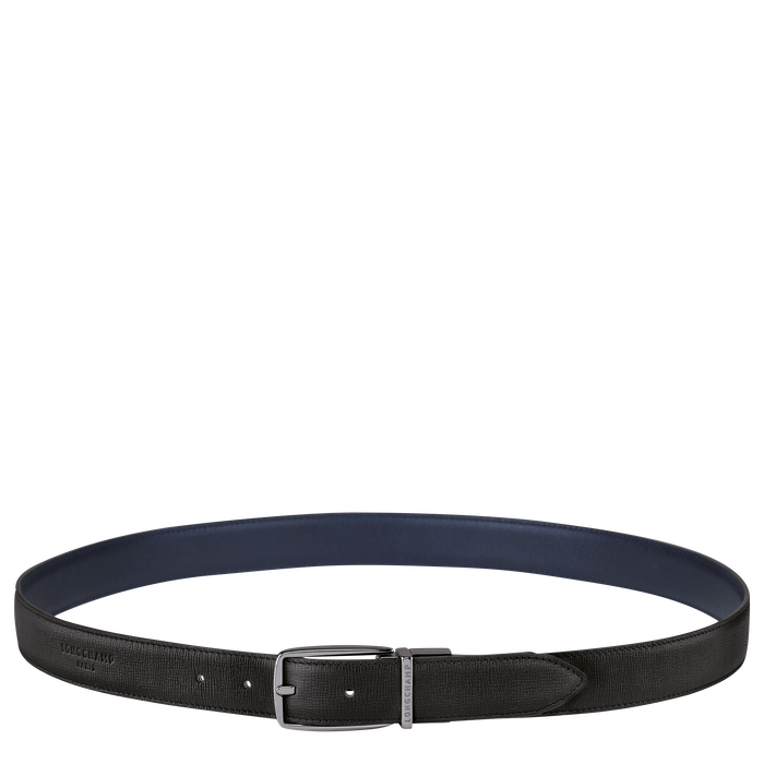 Men's belt, Black/Navy - View 1 of  1 - zoom in