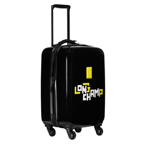 Small wheeled suitcase, Black, hi-res - View 2 of 3