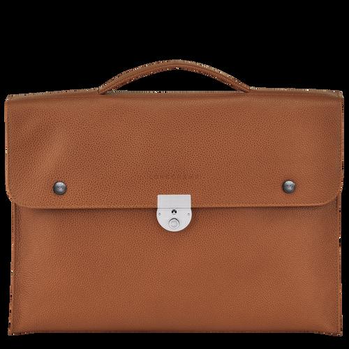 Le Foulonné Briefcase S, Caramel