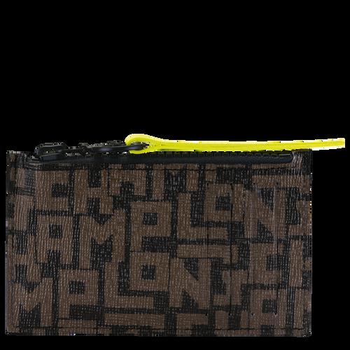 Coin purse, Black/Khaki, hi-res - View 1 of 2