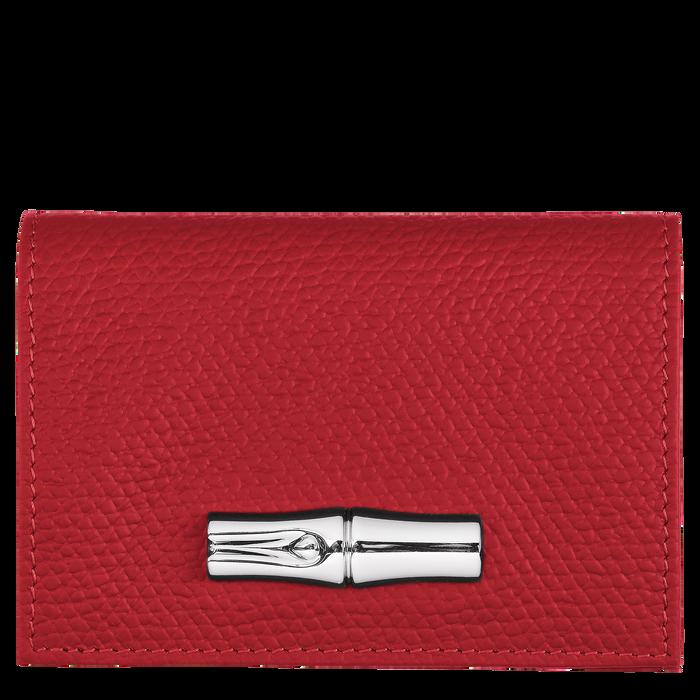 Portefeuille compact Roseau Rouge (30012HPN545) | Longchamp FR