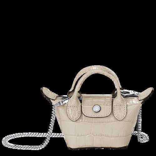 Crossbody bag XS Le Pliage Cuir Chalk (10099HVC337) | Longchamp US