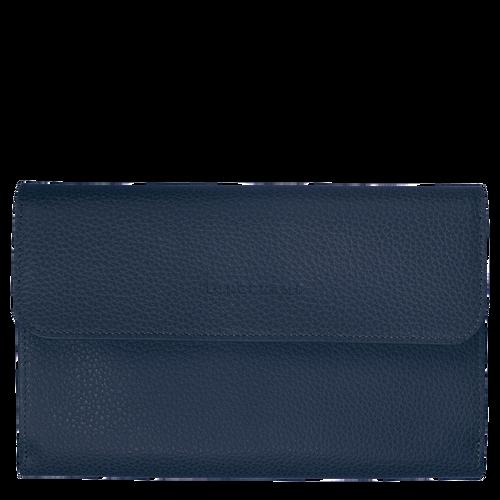 Le Foulonné Lange Geldbörse mit Überschlag, Navy