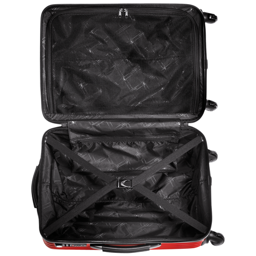 View 3 of Wheeled suitcase, 545 Red, hi-res
