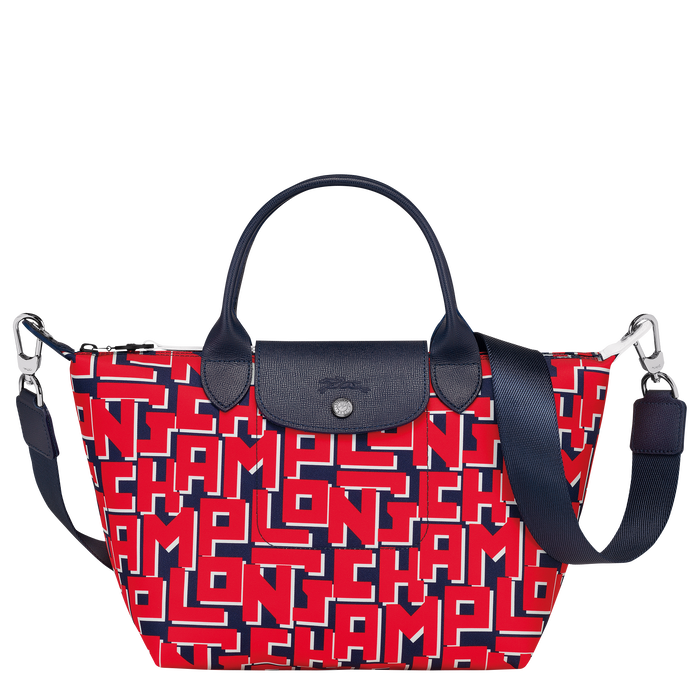 Le Pliage Collection Top handle bag S, Navy/Red