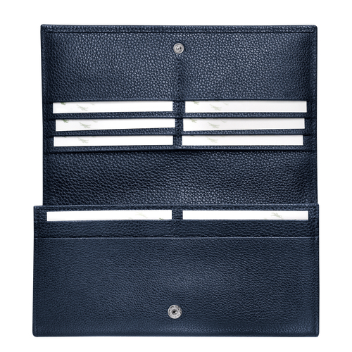 Long continental wallet, Navy - View 3 of  3 -
