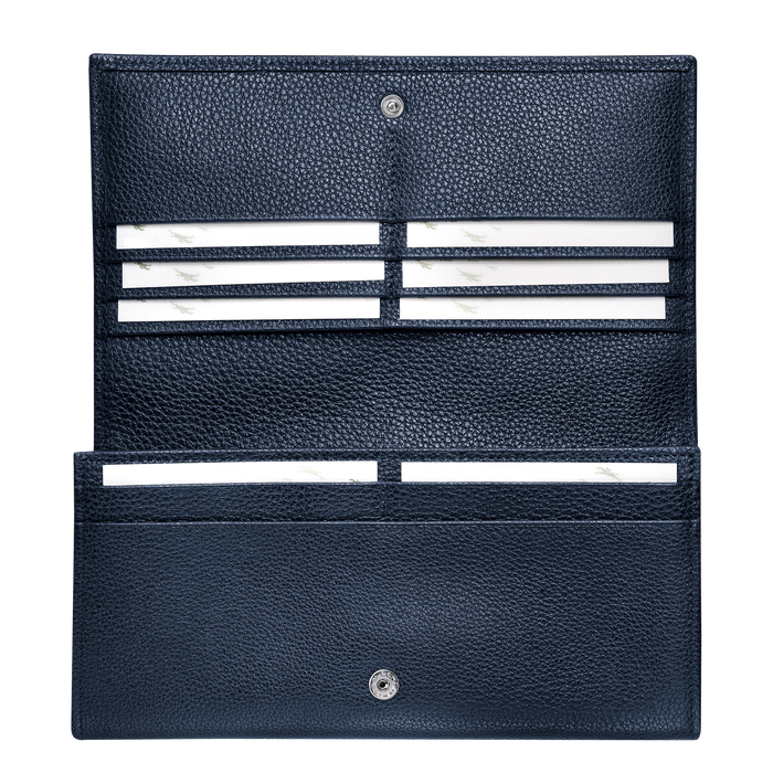 Long continental wallet, Navy - View 3 of  3 - zoom in