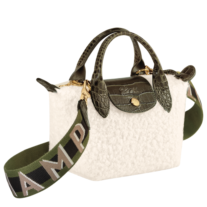 Le Pliage Collection Top handle bag XS, Ivory