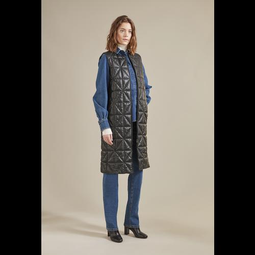 Fall-Winter 2021 Collection Sleeveless Jacket, Black