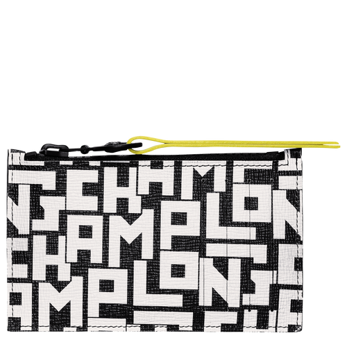 Coin purse, Black/White, hi-res - View 1 of 2