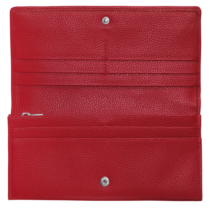 Long continental wallet, Red, hi-res - View 2 of 2