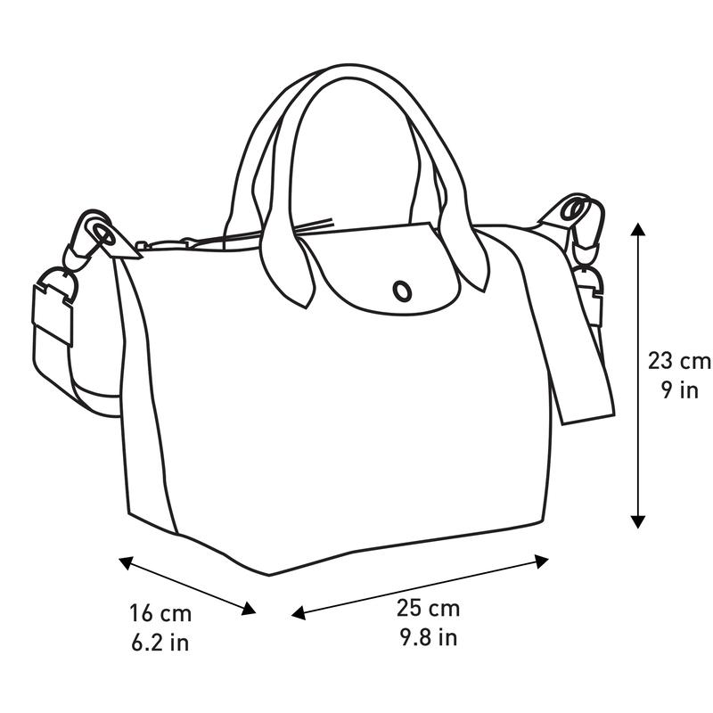 Le Pliage LGP Top handle bag S, Black/White