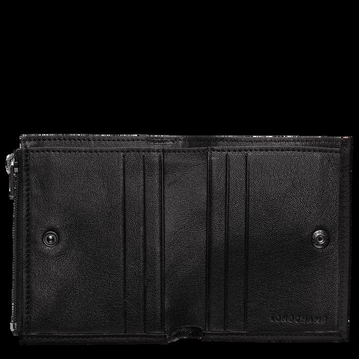 Portefeuille compact, Noir/Ebène - Vue 2 de 2 - agrandir le zoom