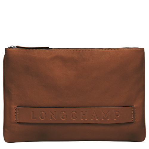 Large Pouch, Cognac, hi-res - View 1 of 3