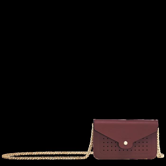 Mademoiselle Longchamp Portemonnee aan ketting, Bordeauxrood