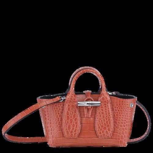 Roseau Top handle bag XS, Coral