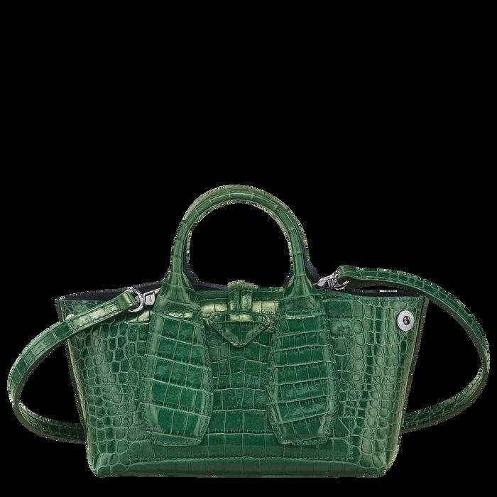 Top handle bag XS, Green havana - View 4 of  4 - zoom in