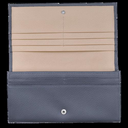 Lange Geldbörse mit Überschlag, Piloten Blau - Ansicht 2 von 2 -