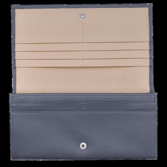 Lange Geldbörse mit Überschlag, Piloten Blau - Ansicht 2 von 2 - Zoom vergrößern
