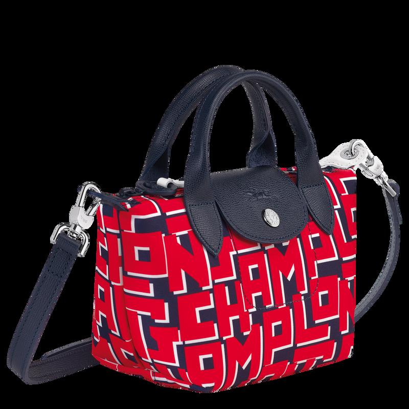 Le Pliage LGP Top handle bag XS, Navy/Red