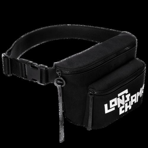 Belt bag L, Black/White, hi-res - View 2 of 2