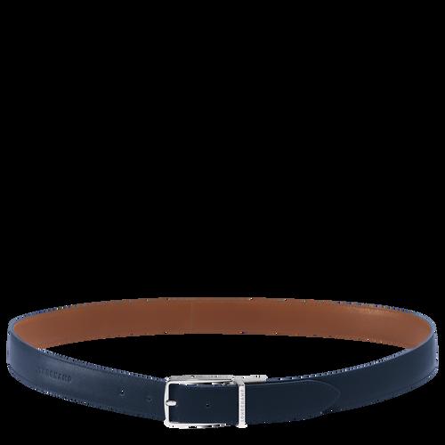 Men's belt, Navy/Cognac, hi-res - View 1 of 1