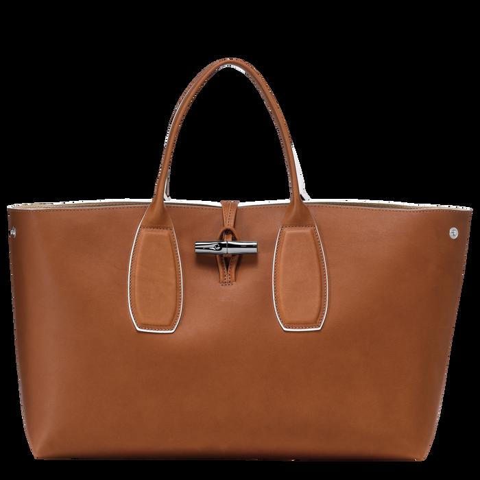 Top handle bag L, Cognac, hi-res - View 2 of 5