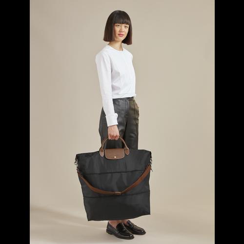 Le Pliage Travel bag expandable, Bilberry