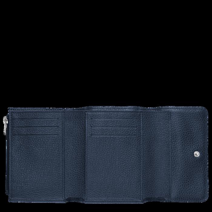 Compact wallet Le Foulonné Navy (30000021556) | Longchamp US