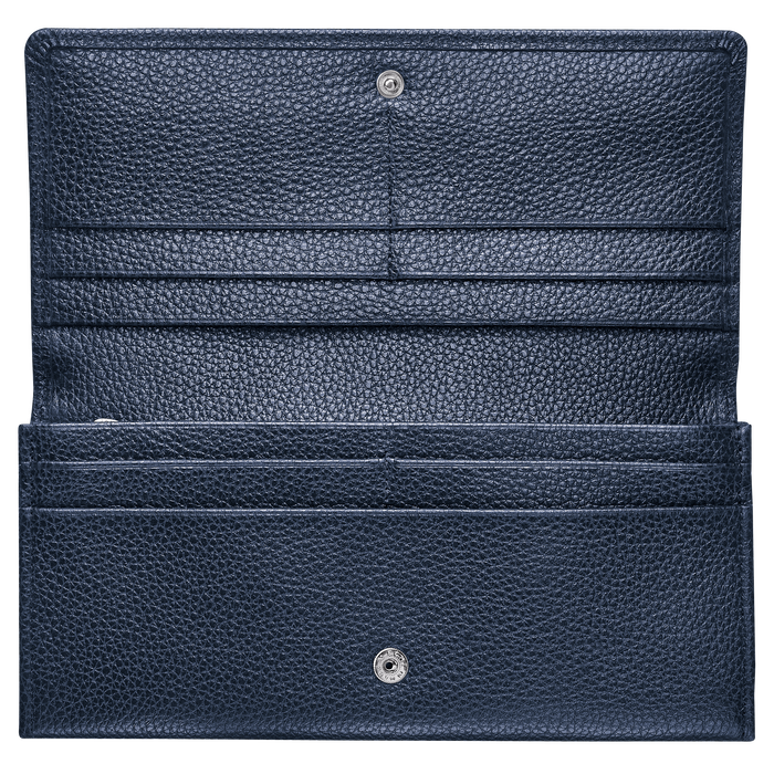 Cartera continental grande, Azul oscuro, hi-res - View 2 of 2
